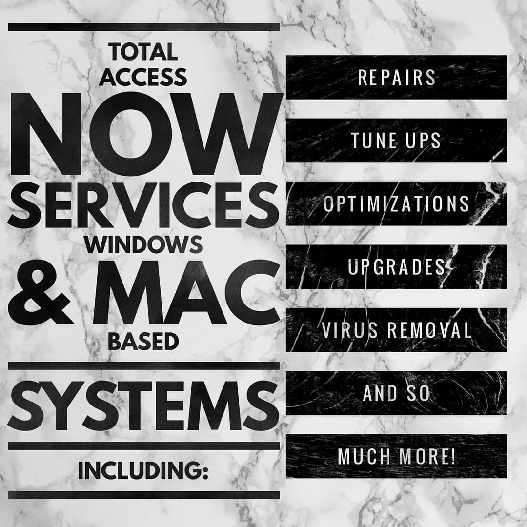we now service windows & mac computers
